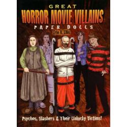 Great Horror Movie Villans paper dolls. Erin A. Ellis.