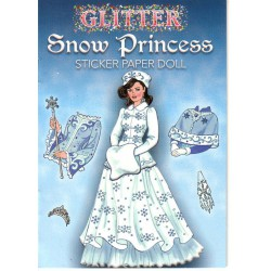 Snow Princess, sticker paper doll