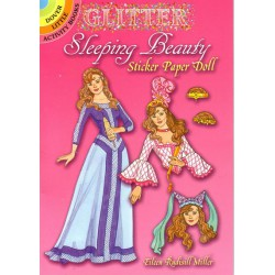Sleeping Beauty, sticker paper doll