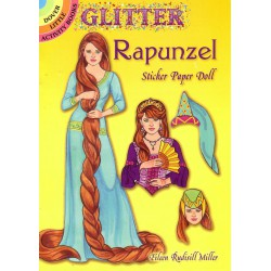 Rapunzel, sticker paper doll