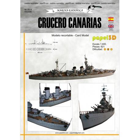 CRUCERO CANARIAS, 1:400. maqueta recortable.