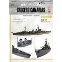 CRUCERO CANARIAS, 1:400. Model Card.