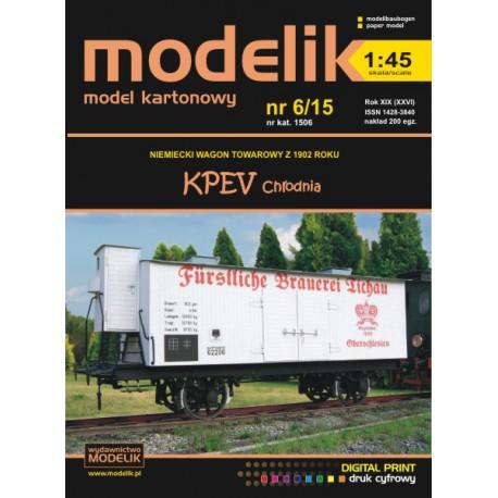 KPEV refrigerator car 1:45, MODELIK,