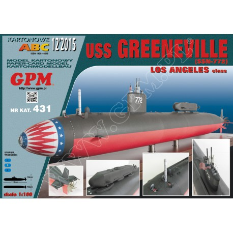 USS Greeneville, Los Angeles class, 1:200, GPM