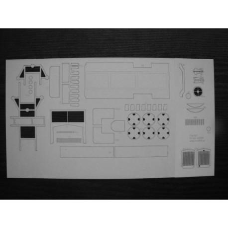 FIAT 621, MODELIK, 1:25, laser frames