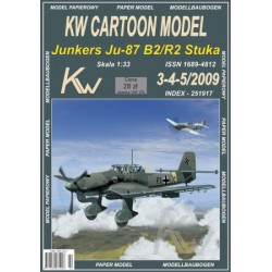 Junkers Ju-87 B2-R2 Stuka, KW Cartoon Model, 1:33