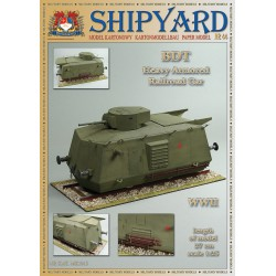BDT Heavy Armored Railroad Car, 1:25 + laser frames, SHIPYARD