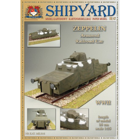 Zeppelin Armored Railroad Car, 1:25 + laser frames, SHIPYARD