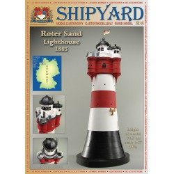 Roter Sand Lighthouse, 1:87, H0 + laser frames, SHIPYARD
