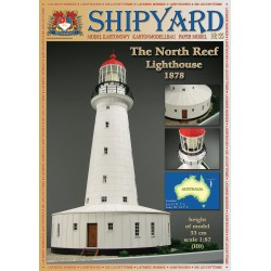 North Reef Lighthouse, 1:87, H0 + laser frames, SHIPYARD