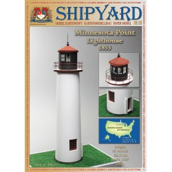 Minnesota Point Lighthouse, faro, 1858. 1:87, H0 + laser frames, SHIPYARD
