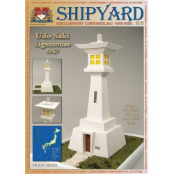Udo Saki Lighthouse, 1:87, H0 + laser frames, SHIPYARD
