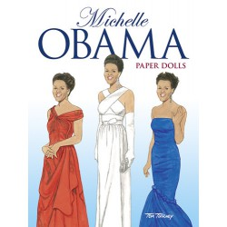Michelle Obama Paper Dolls, DOVER, Tom Tierney