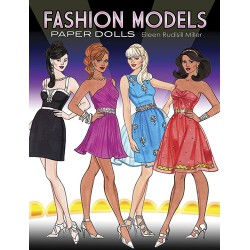 Fashion Models Paper Dolls, DOVER, Eileen Rudisill Miller