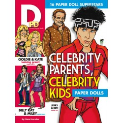 Celebrity Parents, Celebrity Kids Paper Dolls, DOVER, Diana Zourelias