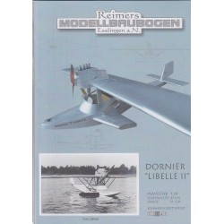 Dornier Libelle II. 1:24, Modellbaubogen.
