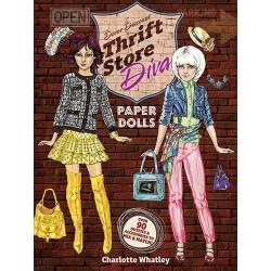 Thrift Store Diva Paper Dolls, DOVER, Charlotte Whatley