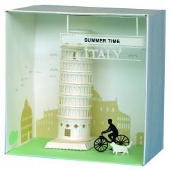 Torre de Pisa, Tower of Pisa, Paper Nanoblock.