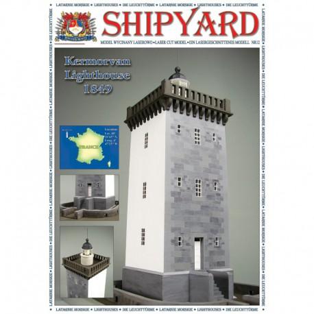 Kermorvan Lighthouse, Laser Cut Paper Model No. 20. 1:72, SHIPYARD.