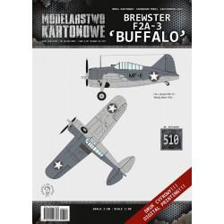"""BREWSTER F2A-3 """"Buffalo"""" 1:50, Proarte. Modelarstwo Kartonowe."""