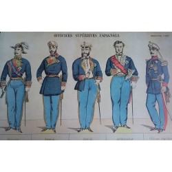 Oficiales superiores españoles. Lámina.
