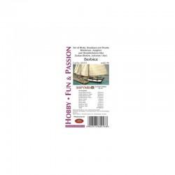 Baltimore Clipper Berbice, 1:96, Shipyard, blocks and deadeyes