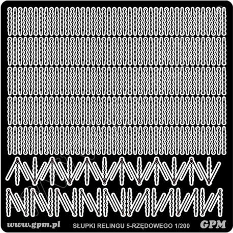 5- bars rails inlineGPM metálicas, 1:200.