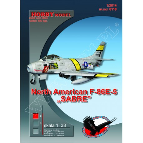 "North American F-86E-5 ""SABRE"", 1:33, HOB-0110, Hobby Model"