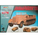 Sd.Kfz.8 Schwerer Zugkraftwagen - Complete model and laser cut frames and caterpillars. Modelo y laser frames, 1:25, GPM