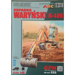 EXCAVATOR WARYNSKI K-406 model and set of lasers. Modelo y laser frames, 1:25, GPM