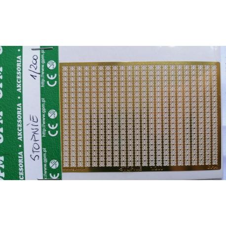 Elementos fotograbados STOPNIE GPM metálicos, 1:200.
