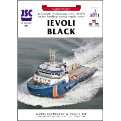 IEVOLI BLACK 1:250, JSC. Modelo waterline